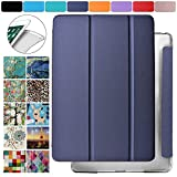 DuraSafe Cases for Apple iPad 2nd Gen / 3rd Gen / 4th Gen - 9.7 Inch Protective Durable Shock Proof Cover with Supportive Dual Angle Stand & Honeycomb Pattern Clear Back - Navy Blue
