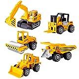 HERSITY Camion Metalicos Juguete Pequeño Vehículos de Construccion Mini Coches Metal Juguete Regalos para Niños 3 4 5 6 Años