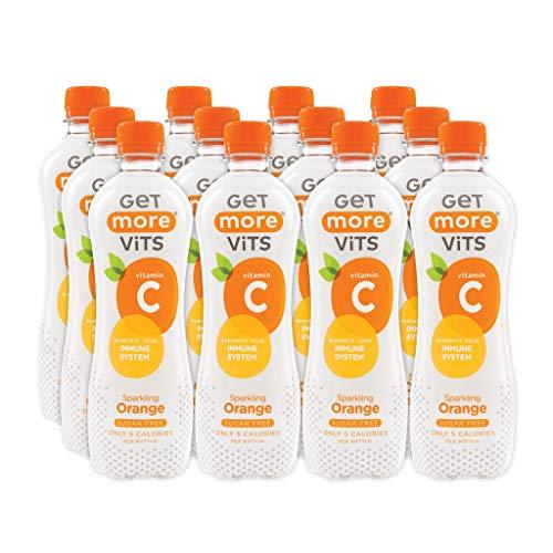 Get More Vitamin C Sugar Free Orange Sparkling Drink 500 ml (Pack of 12)