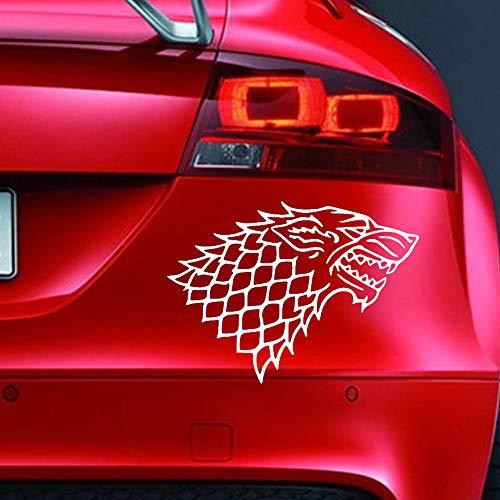 Vinyl-Aufkleber, Motiv: House of Stark Game of Thrones, lustiger Aufkleber für Auto, Fenster, Stoßstange, Motorsport, JDM Euro, Wohnwagen, Cartoon, Fahrrad, Roller.