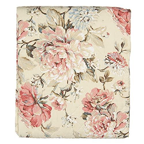 Clayre und Eef Bettüberwurf Tagesdecke Quilt Mehrfarbig Polyester Q190.059