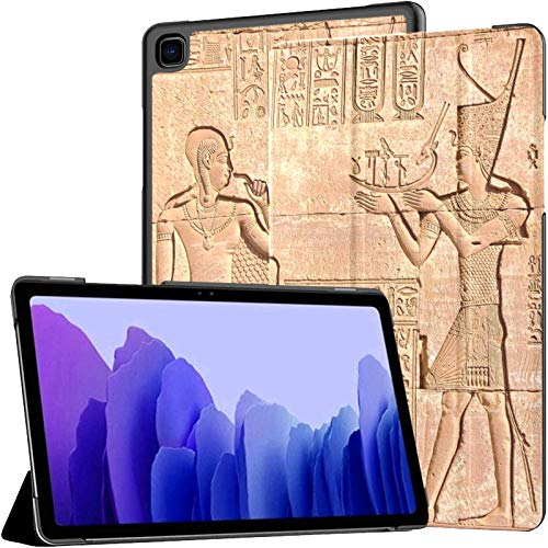 Lilycat Slim Shell Case for Samsung Galaxy Tab A7 10.4 Inch 2020 Release (SM – T500/T505/T507) –Protective Stand Cover with Auto Wake/Sleep - Egyptian Rock Paintings