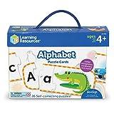 Learning Resources Aprender el abecedario, preparación para Preescolar, puzles con autocorrección, para niños de 4+ años (LER6089)