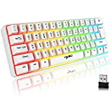 Tastatur Kabellos Gaming, 61 Tasten Bluetooth 5.0 + 2.4G Dual-Modus...