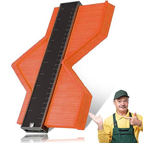 Contour Duplicator Gauge, Profilo Strumento di Misura, Irregolare Profile Misuratore, Replicatore di Contorno 25cm, per Piastrelle, Pavimenti, Tubi