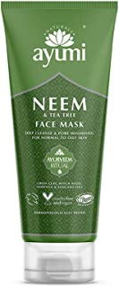 Ayumi Neem & Tea Tree Face Mask. Vegan, Cruelty-Free, Dermatologically-Tested, 1 x 100ml