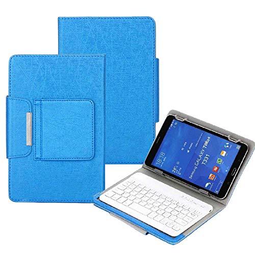 Teclado Bluetooth para Tableta 10 Funda de Teclado inalámbrico Universal para 9.7 10 10.1 Pulgadas Tablet PC para LN Tab M10 FHD Plus TBX606F TBX606X 10.3 Cubierta Tablet con Funda (Color : Blue)