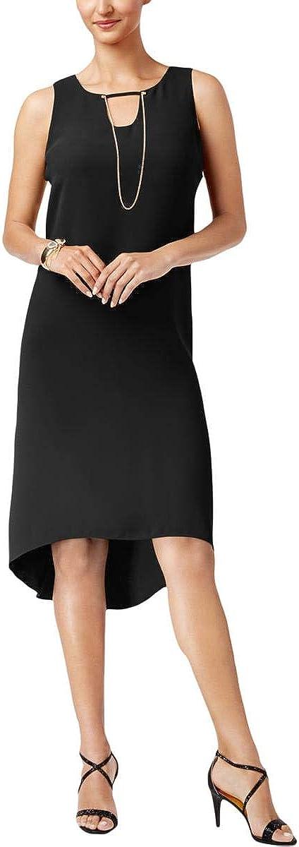 Thalia Sodi Embellished Black High-Low Shift Dress
