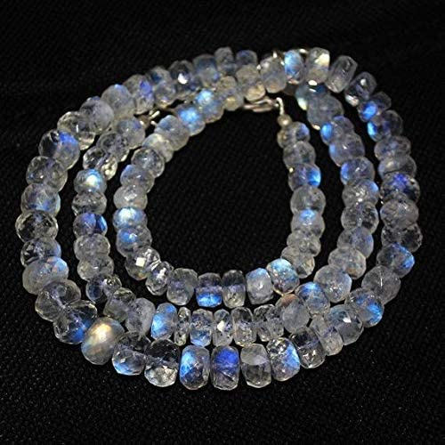 marca famosa GEMS-WORLD BEADS GEMSTONE azul Moonstone Micro Faceted Rondelle Micro Micro Micro Gemstone Craft Loose Beads Strand Necklace 16  6mm 8mm  ofreciendo 100%