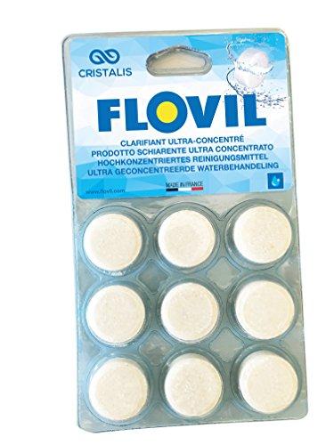 Flovil MD9295 Flocculante in Pastiglie Super Concentrato ad Alta Prestazione, Bianco, 14x2x25 cm