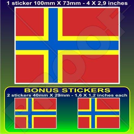 Royaume-Uni Orkney drapeau Écosse Écossais 10,2 cm Bumper Sticker en vinyle (100 mm), en x1 + 2 Bonus