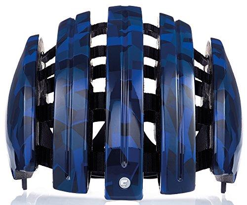 Carrera Fahrradhelm Foldable GTE Unisex Blue Shiny camo 55-58