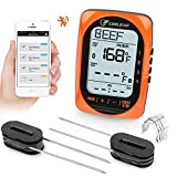 Meat Thermometer, CHILEAF Smart Digital Instant Read Thermometer Oven Food Smoker Thermometer, Probe Backlight, Calibration Function,300FT Range for Outdoor BBQ Gill Support iOS & Android