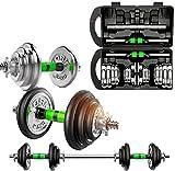 FANLIU Pesas Pesas 30 kg Conjunto Chapado, Pesa fijado for Hombres Ajustable, en Caja aparatos de Ejercicios, Barra extraíble, Principiante Home Fitness Equipment (Color : Black, Size : 30KG)