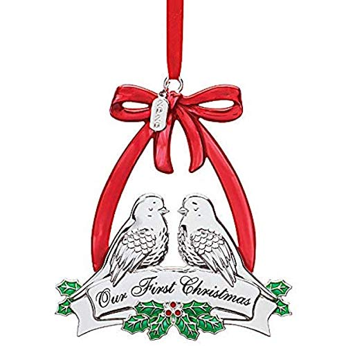 Lenox 2020 Our First Christmas Dove Ornament, 0.30 LB, Metallic