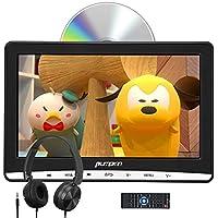 """PUMPKIN - 12"""" Reproductor de DVD para Coche de IPS Pantalla Viene con Auriculares, DVD para Reposacabezas de Diseño de Pantalla de Unidad Óptica de Succión, Soporta USB SD y DVD Región Libre"""