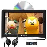PUMPKIN - 12' Reproductor de DVD para Coche de IPS Pantalla Viene con Auriculares, DVD para Reposacabezas de Diseño de Pantalla de Unidad Óptica de Succión, Soporta USB SD y DVD Región Libre