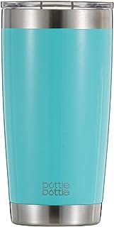 タンブラー 600ml 真空 断熱 ステンレス 穴あるフタ付き ボトル コーヒー ビルー 学生 女性 男性 ティファニー青 bottlebottle