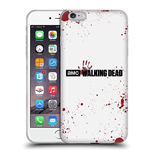 Oficial AMC The Walking Dead Sangre Blanca Logo Carcasa de Gel de Silicona Compatible con Apple iPhone 6 Plus/iPhone 6s Plus
