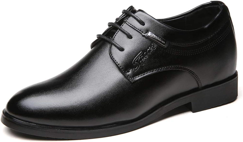 IWGR Männer Business Oxford Casual Komfortable Klassische Einfache Schnürung Höhe Zunehmende Einlegesohle Formale Schuhe Kleid Schuhe  | Bekannt für seine gute Qualität
