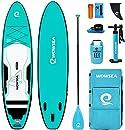 WOWSEA Aufblasbares SUP Board Set - AN27 Stand Up Paddle Board, 6 Zoll Dick, 320 * 81 * 15 cm Groß, Türkis, Komplettes Zubehör, 2 Jahre Garantie