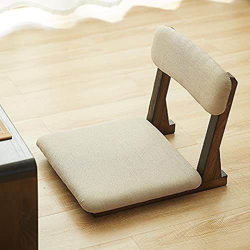 WCQYYDS Japanese Style Tatami Meditation Legless Chair Bay Window Backrest Zaisu Chair Cushion Floor Seating Ergonomic Seat Lazy Sofa