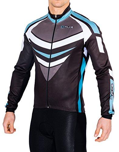 Threeface Winterjacke für Radfahrer, Winddicht, für Mountainbike, schwer, für Mountainbikes, Grün, Verde Bianchi, XL