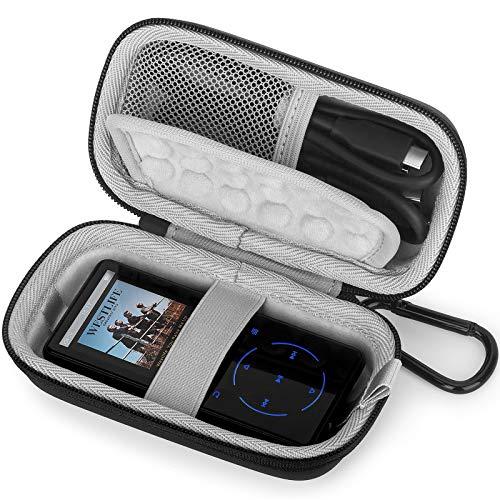 Estuche Funda para MP3/MP4 Reproductor Bluetooth,SUPEREYE/AGPTEK/Victure/IHOUMI/mibao/MYMAHDI de Caja,Portátil Cubrir de Tapa Dura Caso Bolso Protectora (Gray)