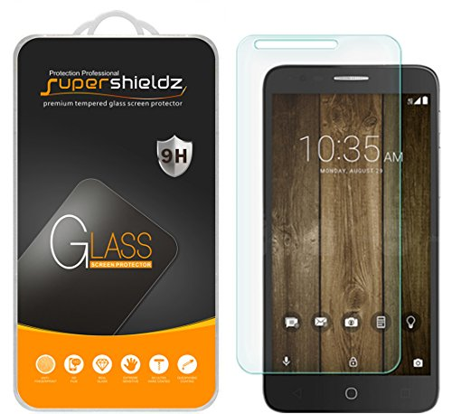(2 Pack) Supershieldz for Alcatel Fierce 4 and Alcatel Pop 4 Plus Tempered Glass Screen Protector, Anti Scratch, Bubble Free