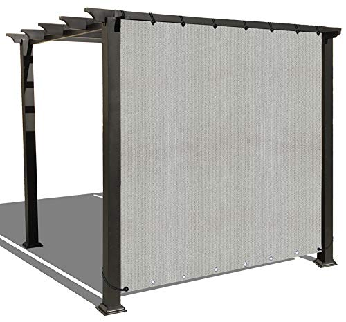 Alion Home Sun Shade Privacy Panel with Grommets on 2 Sides for Patio, Awning, Window, Pergola or Gazebo - Smoke Grey (6' x 4')