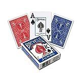 Bicycle - Baraja Poker Jumbo (Naipes Heraclio Fournier 1004380), surtido: colores aleatorios
