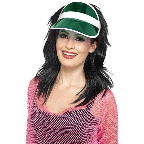 Amakando Cappello con Visiera - Verde   Visiera Anni 80   Visiera Parasole   Visiere in plastica