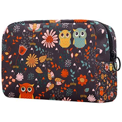FURINKAZAN Animal Owl Travel Makeup Bag for Toiletries Bag Makeup Pouch Men & Women