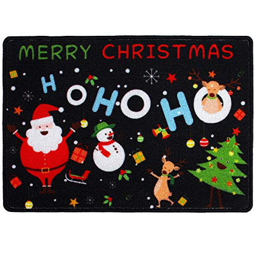 URATOT Creative Christmas Decorative Doormats Non-Skid Christmas Santa Holiday Welcome Floor Mats for Home Garden Decoration, 20 x 28 inches