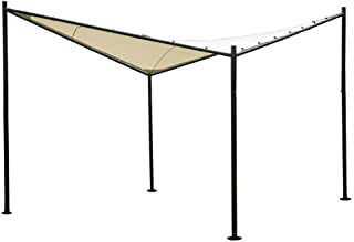 Abba Patio Steel/Polyester Fabric Square Butterfly Gazebo, 12 x 12 ft, Beige