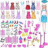 Juego de accesorios para muñecas de niña con tacones altos para muñecas (114 piezas/juego)