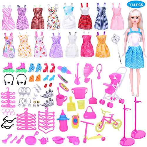 Smosyo Accesorios de Ropa para muñecas Barbie Casa de Juegos para niños Ropa para muñecas Accesorios para muñecas Ropa para atuendos Accesorios para muñecas Ropa Fiesta Moda Princesas