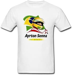 Kittyer Men's Ayrton Senna Design Cotton T Shirt S