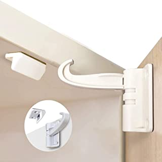 WeTest - Lote de 10 cierres de armario de cocina, diseño invisible, sin tornillos de perforación para cierres y cajones, a...