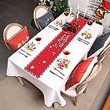 HOWAF Frohe Weihnachten Rentier Schneeflocke Tischläufer Rot Weihnachts Tischband Tischdecke für tischdeko Winter Weihnachtsdeko, Filz, (38 × 180 cm) - 6
