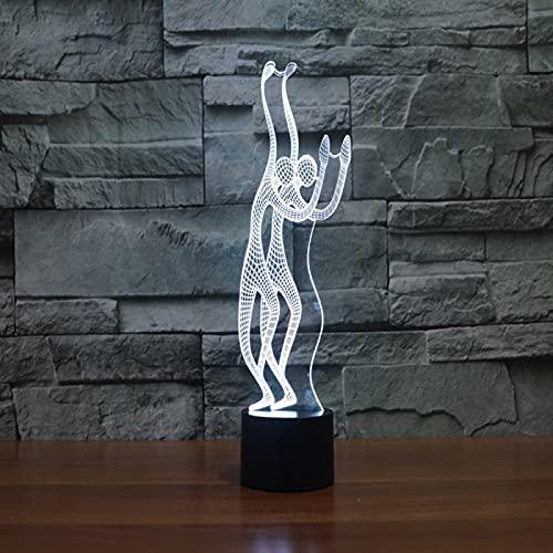 Yyhmkb Accesorios Luces Pared Oscuridad Lampara Habitacion Consumo Lampara Estilo De Gente Que Agita La Lámpara De Mesa De Escritorio De La Atmósfera Visual Led Del Tacto Colorido De La Luz 3D