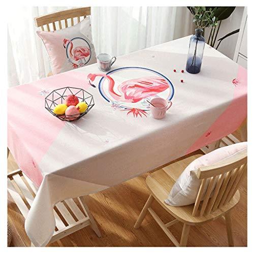 Flamingo Tafelkleed, rechthoekig, warm, voor thee, studenten, slaapzaal, kantoor, met doek