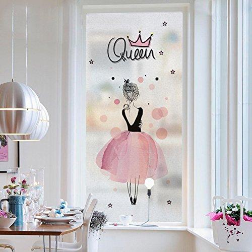 DKSC Raamsticker voor planten, bloemen, glazen stickers voor badkamer, gesatineerd raam sticker, licht dekkend schaduw, leeuwtand muursticker 45x80cm(18x31inch) C