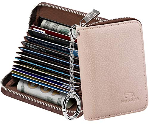 FurArt Credit Card Wallet, Zipper Card Cases Holder for Men Women, RFID...
