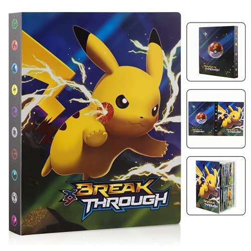 Tarjetero Pokémon, Album Pokemon, Álbum de Pokemon, Album Pokemon Cartas, Álbum de Cartas Coleccionables Pokémon, Libro de Tarjetas de Colección de Gran Capacidad, la Mejor Protección de GX EX