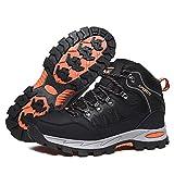 Zapatillas Trekking Hombre Mujer Trail Running Antideslizantes Zapatos de Senderismo Transpirable Botas Montaña Bajas al Aire Libre Negro 38 EU