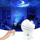 LED Sternenhimmel Projektor, solawill Galaxy Light Lamp, Starry Mond Projector Light mit Fernbedienung, Musik Steuerbar 360°Drehen, 120° Projektionswinkel Einzustellen für Party und Zimmer Dekoration