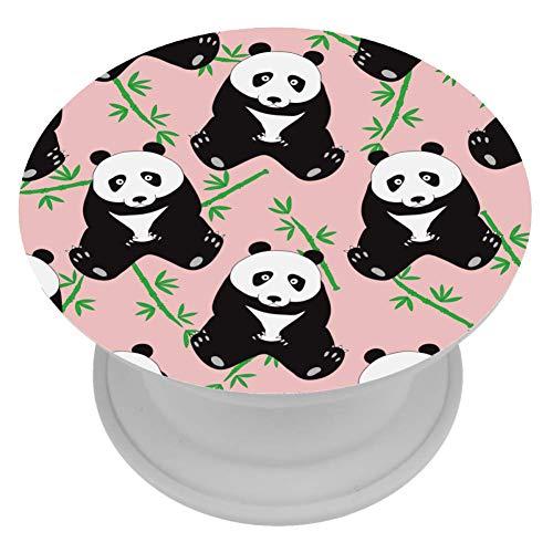 henghenghaha Telefoon Beugel Mini Grips voor Telefoons & Tabletten - Roze Poot Panda, 4x4 cm, Roze trage Panda bamboe