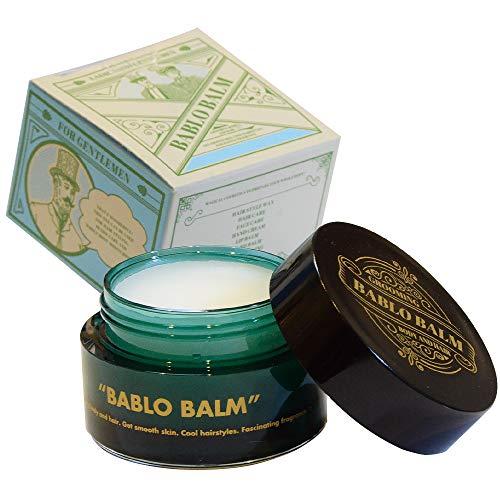 BABLO バーム メンズ男性用 ヘアバーム・髪のスタイリング・練り香水 髭・顔・ボディの保湿(ムスクの香り)