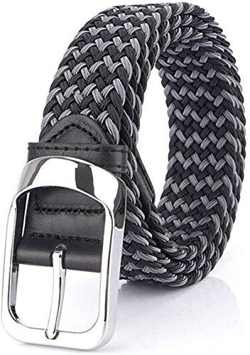 [FREESE] ベルト メンズ 編み込み メッシュ ビジネス&カジュアル 紳士 伸縮 サイズ調整フリー バックル 改良型 105cm 115cm 125cm (ブラックグレー, 105cm)